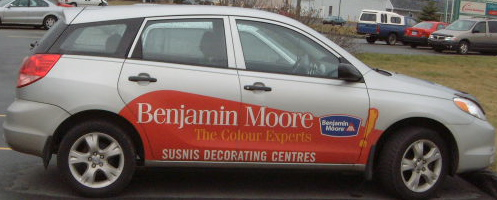 Benjamin Moore vehicle  Cast vinyl