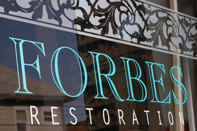 Forbes Restoration Etched and opaque cast vinyl