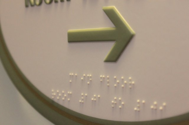 Design Build Solutions  Acrylic photopolymer Braille sign.